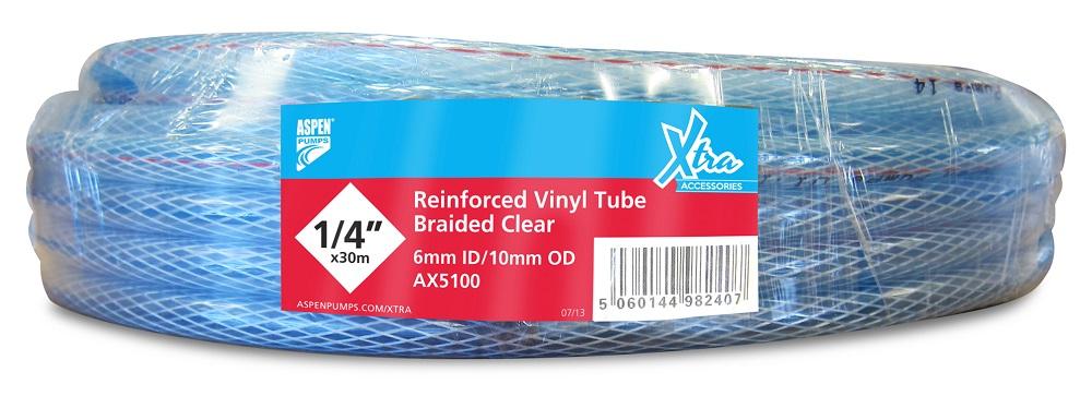 """Aspen 1/4"""" Reinforced (Braided) Vinyl Tubing 30M"""