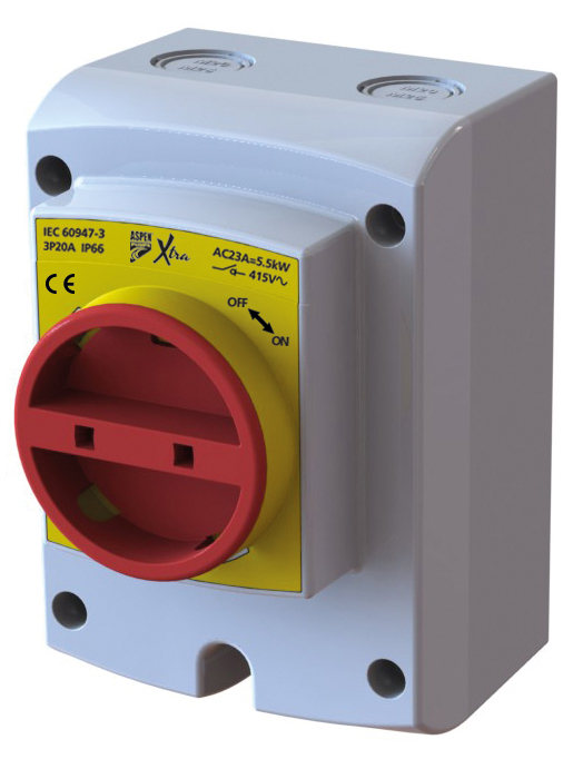 Aspen 4 Pole 20A Rotary Isolator