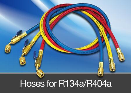 hoses for R134a and R404a refrigerant