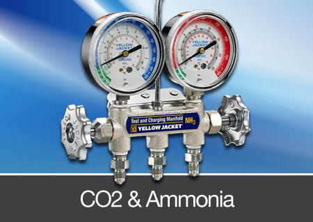 co2 and ammonia testing manifolds